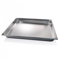 Container stainless steel GN 2/1 65x53x6.5 cm