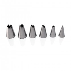 Set 6 S/Steel Star Decorating Nozzles