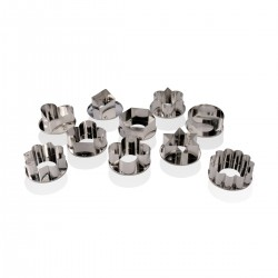 Assorted Tin Pastry Cutters 10 pcs PIAZZA