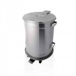 Bin - S/Steel with Trolley 70 Ltr