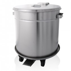 Bin - S/Steel With Trolley 50 Ltr
