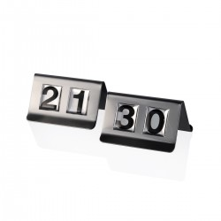 Table Sign 21-30 - Steel
