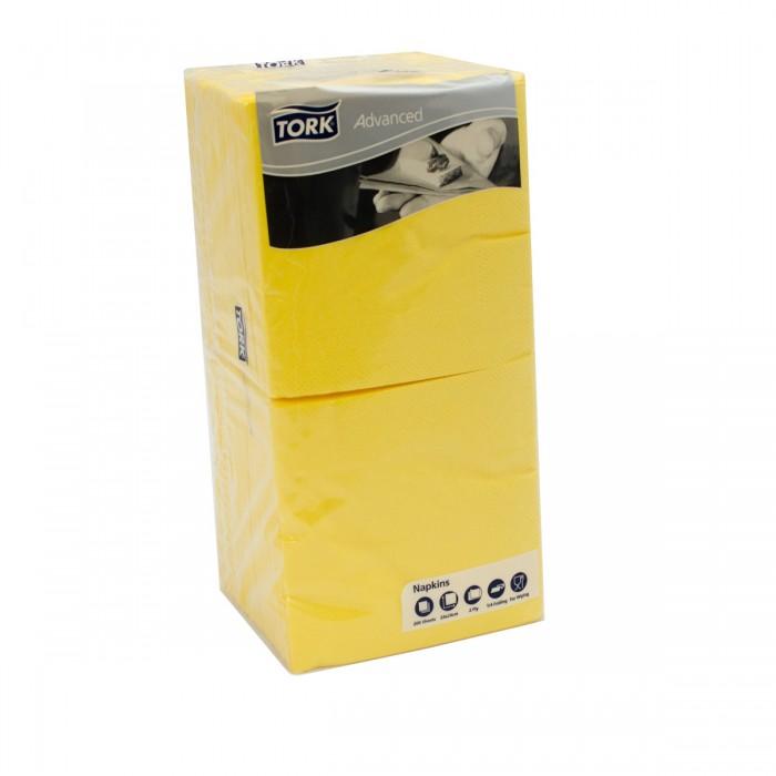 Napkins 25x25 Yellow 2 ply - 200 pcs Tork