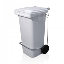 Bin Maxi with lid 120 ltr WHITE