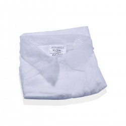 TNT white coat XXL front closure - 50 pieces
