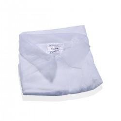 TNT white coat XXL front closure - 50 pieces
