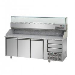 Banco pizza 2000 3P+3C c/vetrina
