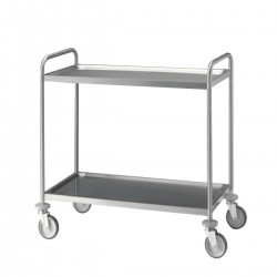 Trolley Stainless Steel with Shelving 1400C