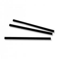 Straws Granita 13 cm. Black