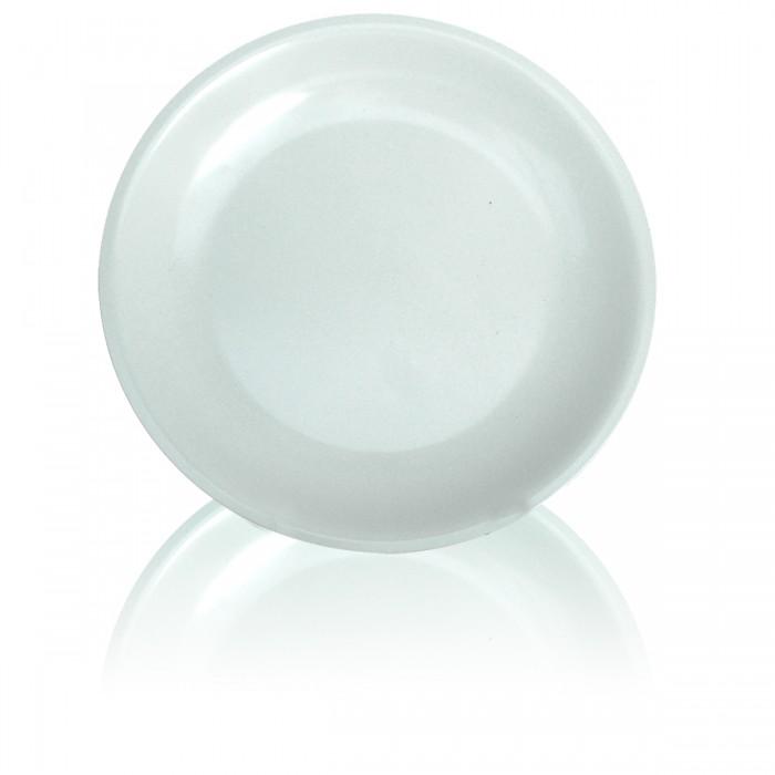 Melamine White Flat Plate 23 cm