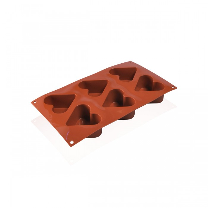 Silicone mould Heart 6.5x4