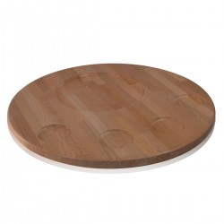 Round Wooden Cutting Board 40cm with hands bowl