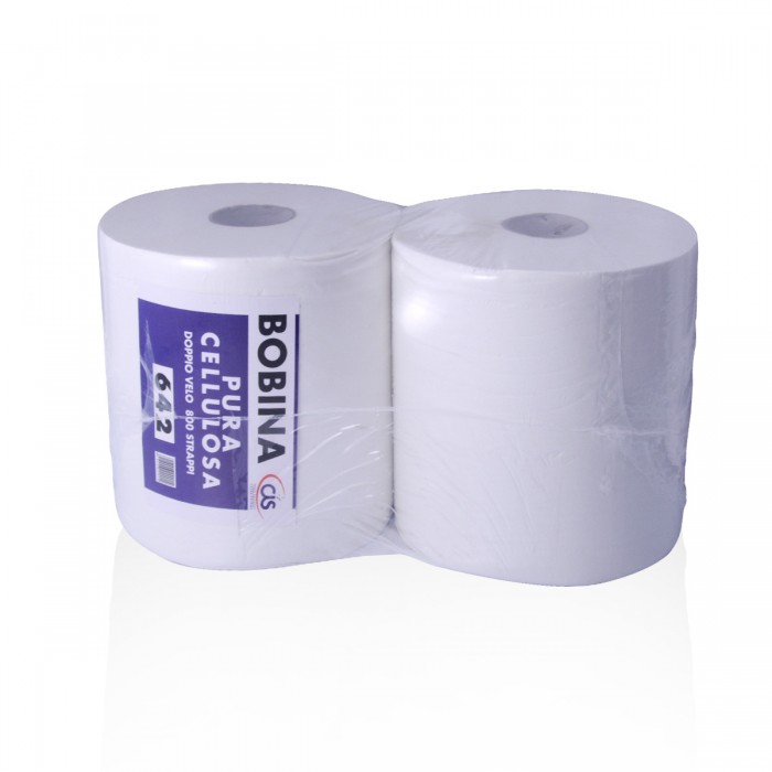 Wiper 642 pure cellulose 2 rolls