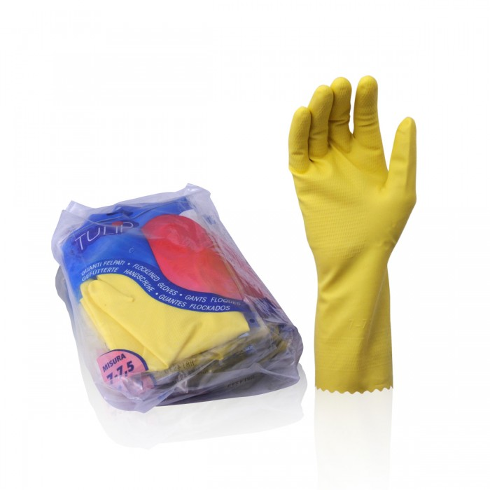Flocklined gloves - Size S 6-6,5 -
