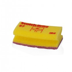 Commercial soft scour grooved hand pad Yellow - 10 pcs -