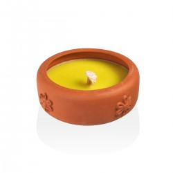 candle flame 15cm crockery Citronella