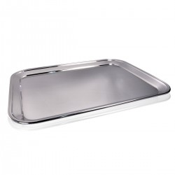 Bar Tray - S/Steel 18/10. 60x45 cm.