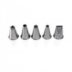 Set 5 Tin Decorating Nozzles
