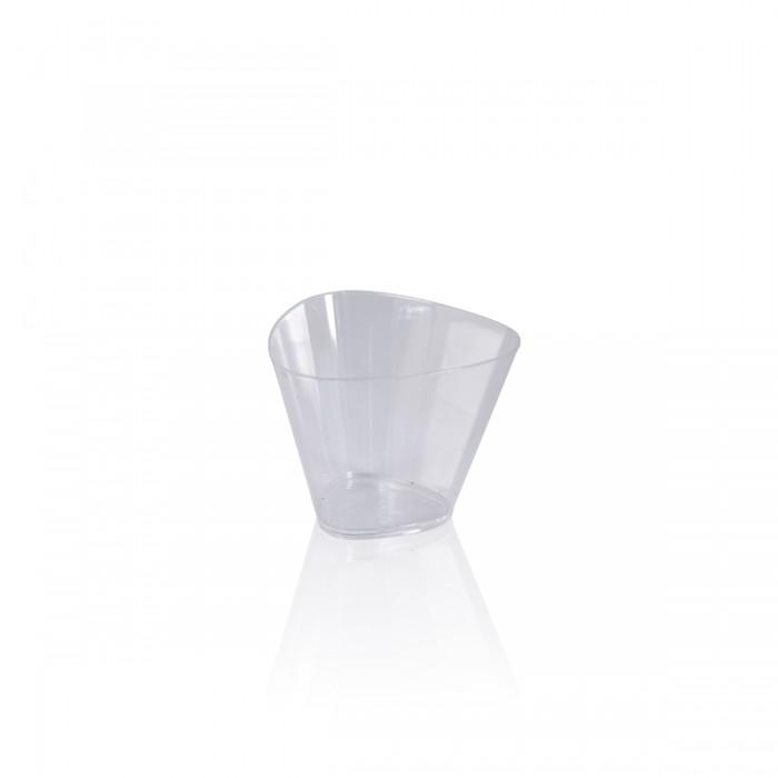 Transparent Plastic cup 8,5x6,5 h