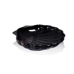 Piatto Conchiglia Nero 20 cm - 6 pezzi