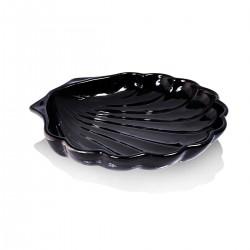 Piatto Conchiglia Nero 24 cm - 3 pezzi