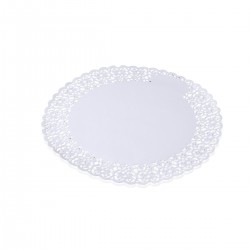 Round Lace Porcelain 25 cm - 100 pieces