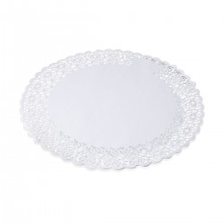 Round Lace Porcelain 32 cm - 100 pieces