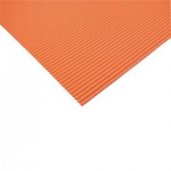 Foamy orange carpet