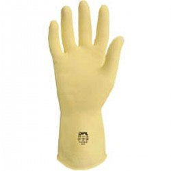 Latex rubber gloves - Size L: 8 - 8,5
