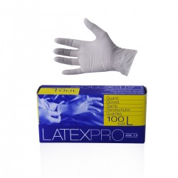 Disposable natural latex gloves 100 pcs - size L 8-8,5
