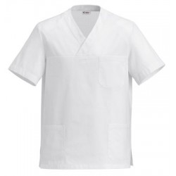 Half-Sleeve Tunic White Unisex L