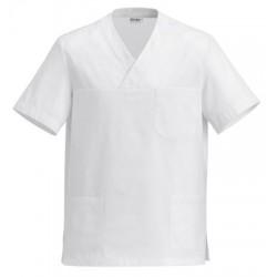 Half-Sleeve Tunic White Unisex M