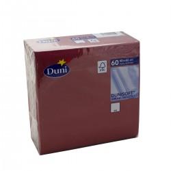 Napkins 40x40 Dunisoft Bordeaux - 60 Napkins Duni