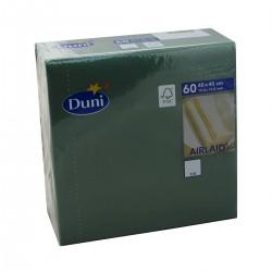 Napkins 40x40 Dunisoft Dark green - 60 Napkins Duni