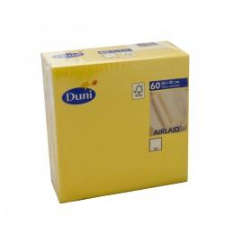 Napkins 40x40 Dunisoft Yellow - 60 Napkins Duni