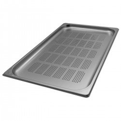 Container stainless steel perforated GN 1/1 53x32x02 cm