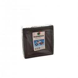 Quadripack Piatto Nero 50 pezzi