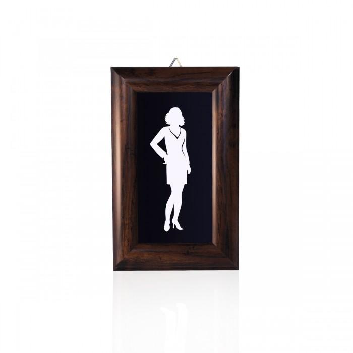 Lavagna Proteo Donna 15x24 cm
