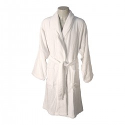 WHITE TERRY ROBE