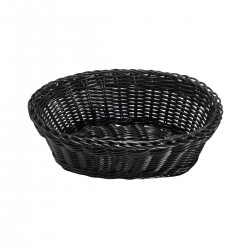 Black Oval Basket 23x18 h9 cm