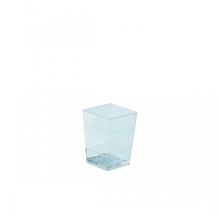 Clear glass 100 ml round - 100 pieces