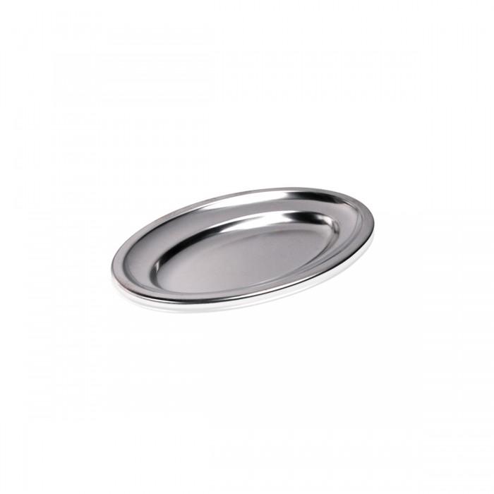 Vassoio Ovale Inox 25x16 cm