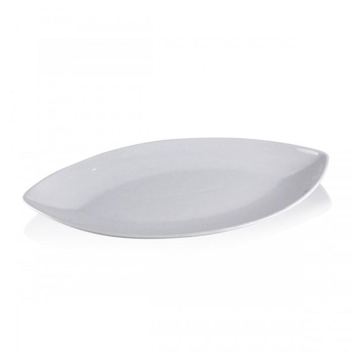 Piatto Ovale Luna Bianco 35x20 h3 cm