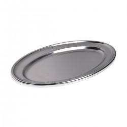 Vassoio Ovale Inox 40x25 cm