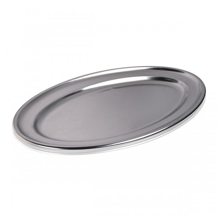 Vassoio Ovale Inox 45x28 cm