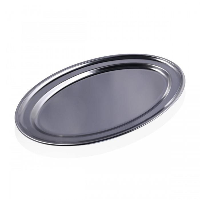 Vassoio Ovale Inox 53x35 cm