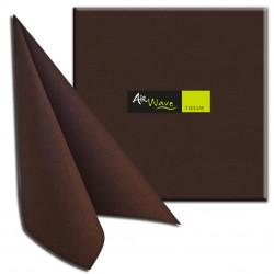 NAPKINS MICRO GAIA 40X40 CHOCCOLATE