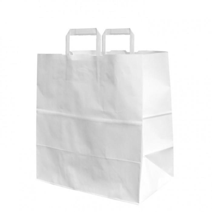 WHITE PAPER BAG 26+17x26