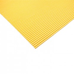 Foamy yellow carpet