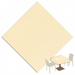 TABLECLOTH 120x120 IVORY